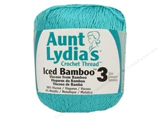 Aunt Lydia&#39;s Iced Bamboo Crochet Thread Size 3 Aqua
