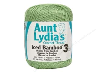 Aunt Lydia&#39;s Iced Bamboo Crochet Thread Size 3 Green Tea