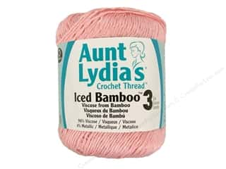 Aunt Lydia&#39;s Iced Bamboo Crochet Thread Size 3 #3702  Pink
