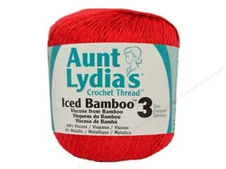 Aunt Lydia&#39;s Iced Bamboo Crochet Thread Size 3 #3903 Red