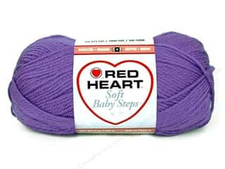 Light Worsted yarn: Red Heart Soft Baby Steps Yarn #9536 Light Grape 256 yd.
