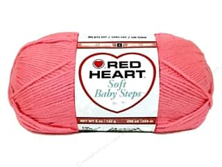 Yarn Red Heart Soft Yarn: Red Heart Soft Baby Steps Yarn #9702 Strawberry 5 oz.