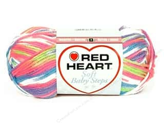 Baby Yarn & Needlework: Red Heart Soft Baby Steps Yarn #9937 Giggle 4 oz.