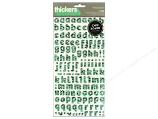 Thickers Alphabet Stickers Chipboard Delight Zebra Aqua