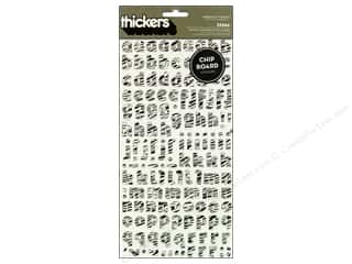 Thickers Alphabet Stickers Chipboard Delight Zebra Black/White