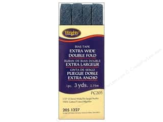 Wrights Extra Wide Double Fold Bias Tape Dark Denim 3 yd.