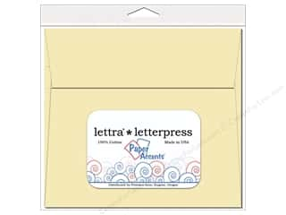 7 x 7 in. Lettra Letterpress Envelopes 10pc. Natural