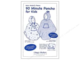 Mary's Productions Sewing Construction: Mary Mulari 90 Minute Poncho For Kids Pattern
