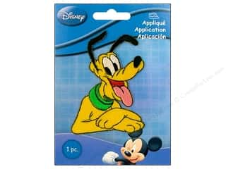 Wrights Appliques Disney Iron On Small Pluto Half