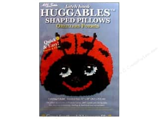 "Pillow Shams 10"": M.C.G Textiles Latch Hook Kit Huggables Ladybug Pillow"