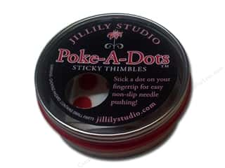 quilting notions: Jillily Studio Thimbles Poke-A-Dots Sticky 18pc
