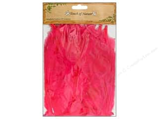 "Decorative Masks Hot: Midwest Design Feather Turkey Flat 4-6"" Hot Pink 14gm"