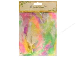 "Charms Basic Components: Midwest Design Feather Turkey Flat 4-6"" Pastel 14gm"