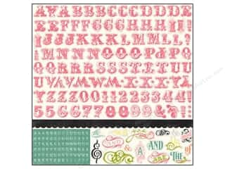 "Crafter's Workshop, The ABC & 123: Echo Park Sticker 12""x 12"" Victoria Gardens Alphabet (15 sheets)"