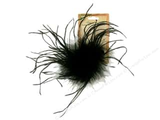 feather interfacing: Midwest Design Clip Feather Ostrich Fluffy Black
