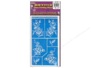 Armour Rub &#39;n&#39; Etch Stencil Detailed Floral