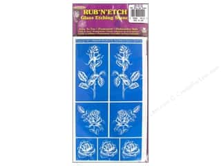 Glass Armour Rub 'n' Etch Stencils: Armour Rub 'n' Etch Stencil Detailed Roses