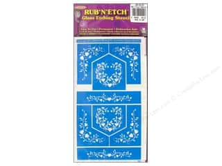 Armour Rub &#39;n&#39; Etch Stencil Floral Hearts 2