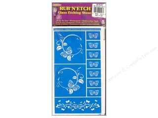 Armour Rub 'n' Etch Stencil Butterflies 2