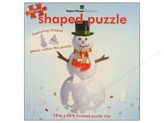 Paper House Shaped Puzzle Snowman