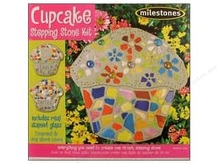 stepping stone Milestones: Milestones Kit Stepping Stone Cupcake 12&quot;