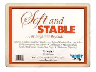 "fusible batting: By Annie Soft And Stable 100% Poly 72""x 58"" White"