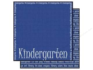 Sports Papers: Scrappin Sports Paper 12x12 School Kindergarten (25 sheets)