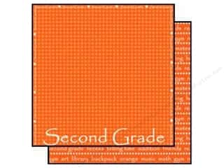 Scrappin Sports Paper 12x12 School Second Grade (25 sheets)