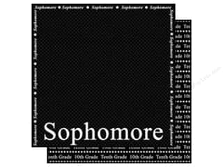 Scrappin Sports Paper 12x12 School Sophomore (25 sheets)