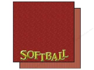Scrappin Sports Paper 12x12 Title Sports Softball (25 sheets)