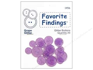 Clearance Blumenthal Button Coordinates: Blumenthal Glitter Buttons Grape 20 pc.