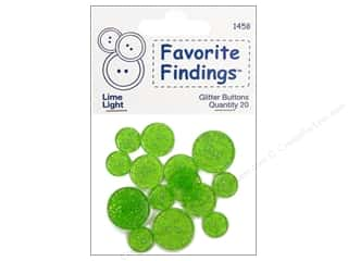 Blumenthal Buttons Glitter Lime 20 pc.