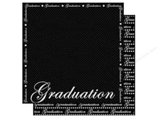 Scrapbooking & Paper Crafts: Scrappin Sports Paper 12x12 School Graduation (25 sheets)