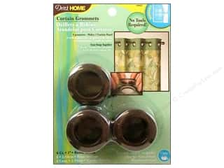 Grommet/Eyelet Brown: Dritz Home Curtain Grommets 1 in. Round Rustic Brown 8pc