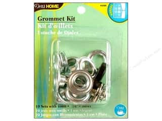 Dritz Home Curtain Grommet Kit 7/16 in Silver Zinc 10pc