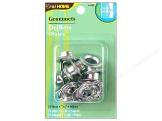 plastic curtain grommets: Dritz Home Curtain Grommets 7/16 in.  Zinc 10pc