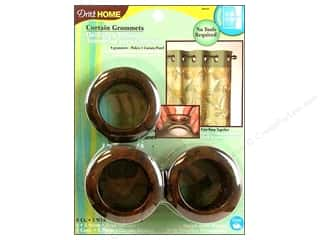 plastic curtain grommets: Dritz Home Curtain Grommets 1 9/16 in. Rustic Brown 8pc