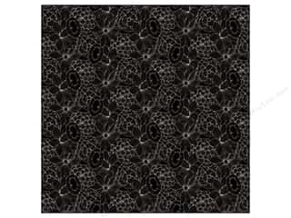 Anna Griffin Paper 12x12 Fifi Fido Flowers Black (25 sheets)