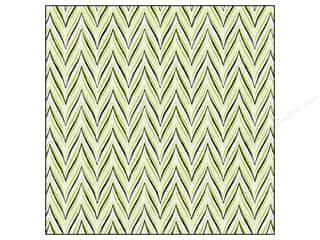 Anna Griffin Clearance Crafts: Anna Griffin 12 x 12 in. Cardstock Fifi & Fido Flocked Herringbone Green/Blue (25 sheets)