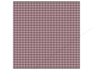 Anna Griffin: Anna Griffin 12 x 12 in. Cardstock Fifi & Fido Flocked Houndstooth Pink (25 sheets)