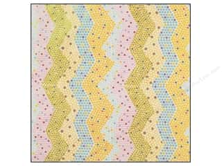 Anna Griffin 12 x 12 in. Cardstock Lizzie Glitter Chevron Multicolor (25 sheets)