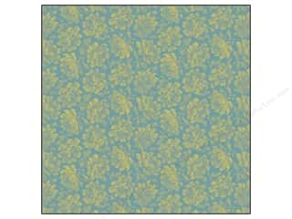 Anna Griffin Paper 12x12 Francesca Flowers Grn Blu (25 sheets)