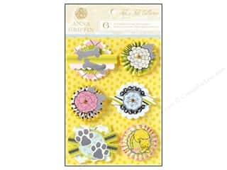 Anna Griffin Sticker Fifi Fido 3D Small Foil Silvr