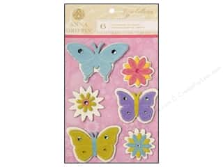 3D stickers -bling: Anna Griffin 3D Stickers Lizzie Small Butterflies