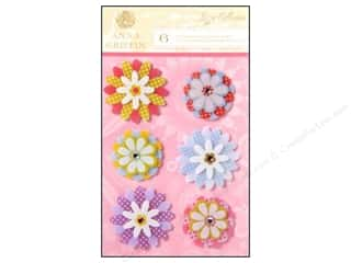3D Stickers: Anna Griffin 3D Stickers Lizzie Small Mylar Flowers