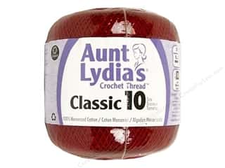 Coats & Clark Aunt Lydia's Classic Cotton Crochet Thread Size 10: Aunt Lydia's Classic Cotton Crochet Thread Size 10 Cardinal Red