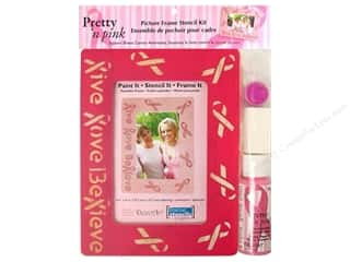 Art Institute Glitter $4 - $5: DecoArt Pretty 'n Pink Picture Frame/Stencil Kit
