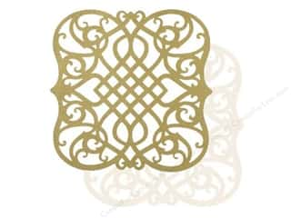 Anna Griffin Paper 12x 12 Die Cut Gold/Ivory 2pc