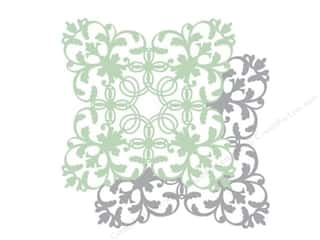 Anna Griffin Paper 12x 12 Die Cut Silver/Green 2pc