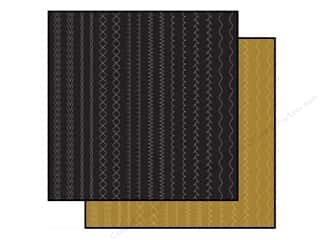 Anna Griffin Paper 12x12 Stitched Gold/Black 2pc